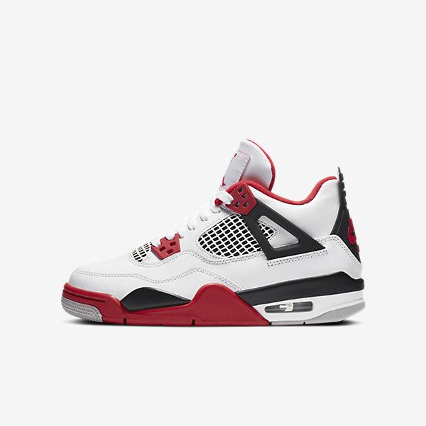 """Air Jordan 4 """"Fire Red"""" (GSサイズ)"""