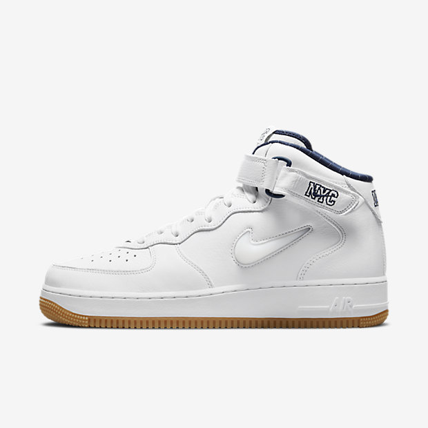 Air Force 1 Mid QS NYC White [1]