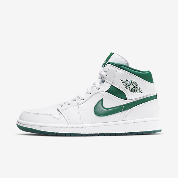 Air Jordan 1 Mid White Mystic Green