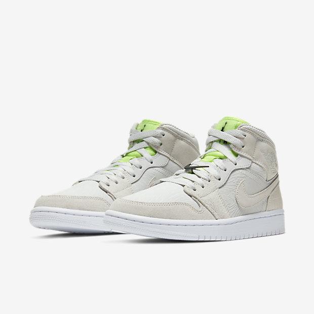 Air Jordan 1 Mid Vast Grey Ghost Green (ウィメンズ) [4]