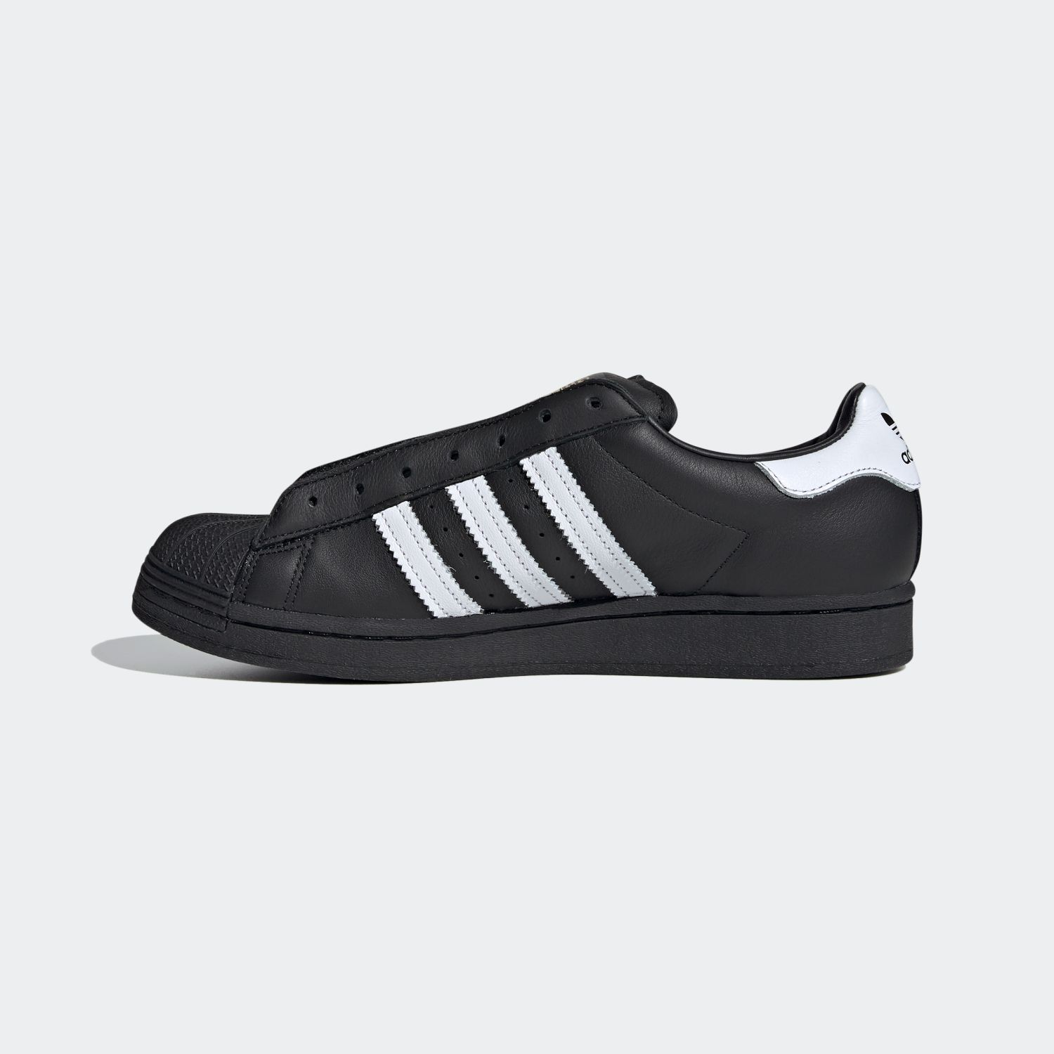 SUPERSTAR x Adidas Laceless Black White [2]