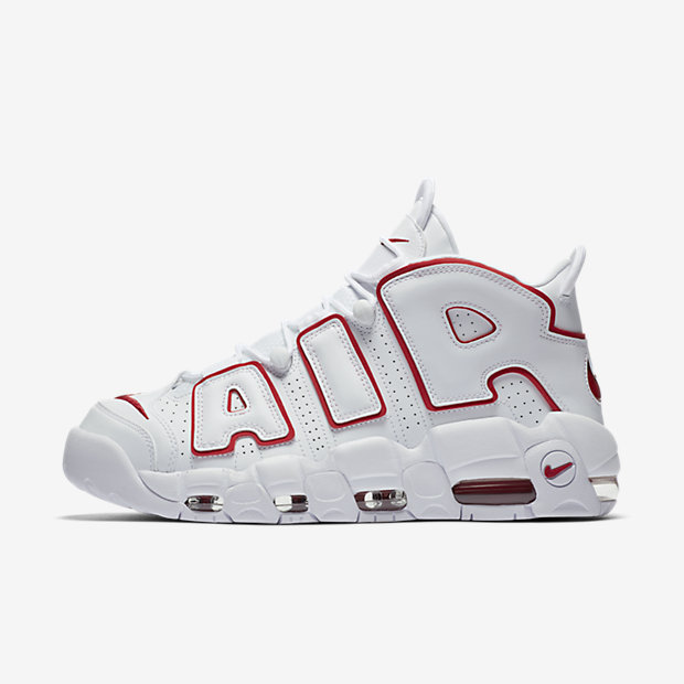 Air More Uptempo White Varsity Red Outline(モアテン) [1]
