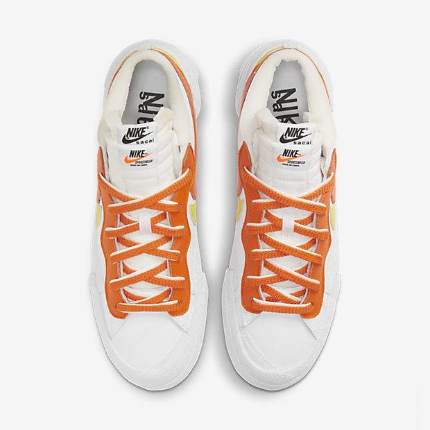 Blazer Low Magma Orange x sacai [3]