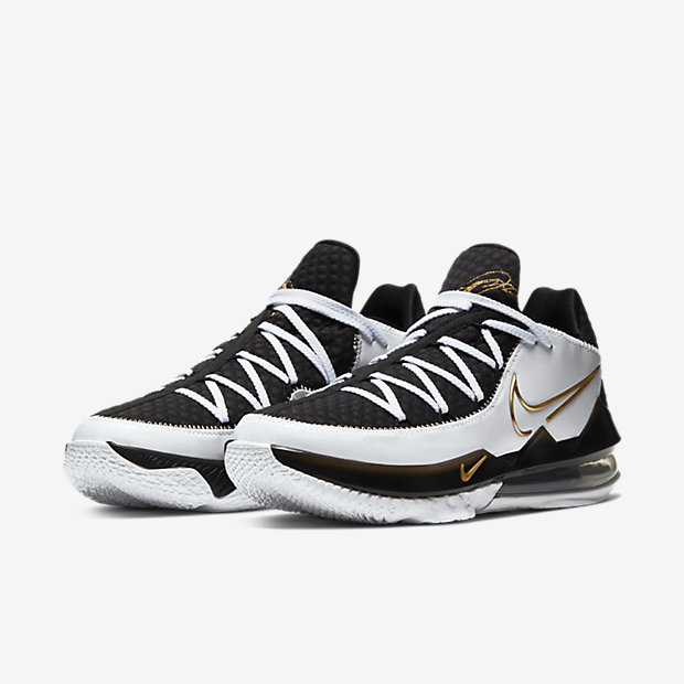 LeBron 17 Low White Metallic Gold [4]