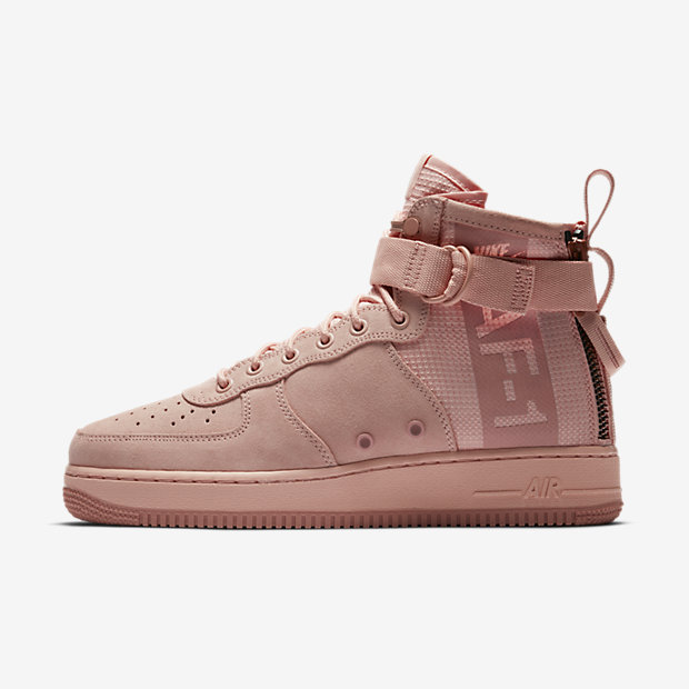 SF Air Force 1 Mid Coral Stardust