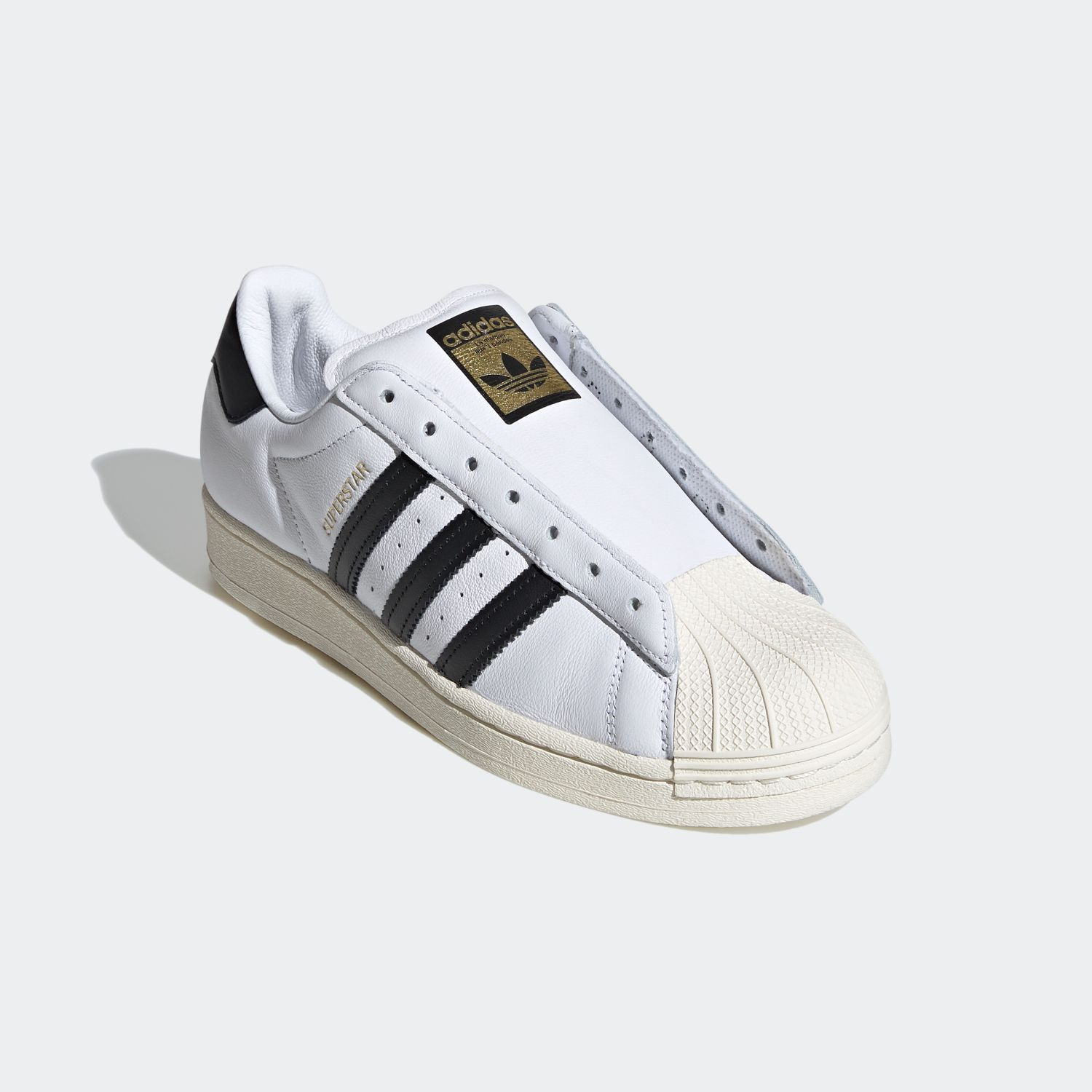 SUPERSTAR x Adidas Laceless White Black [4]