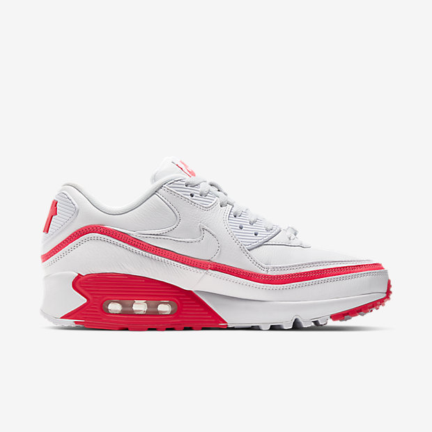 Air Max 90 Undefeated White Solar Red [2]