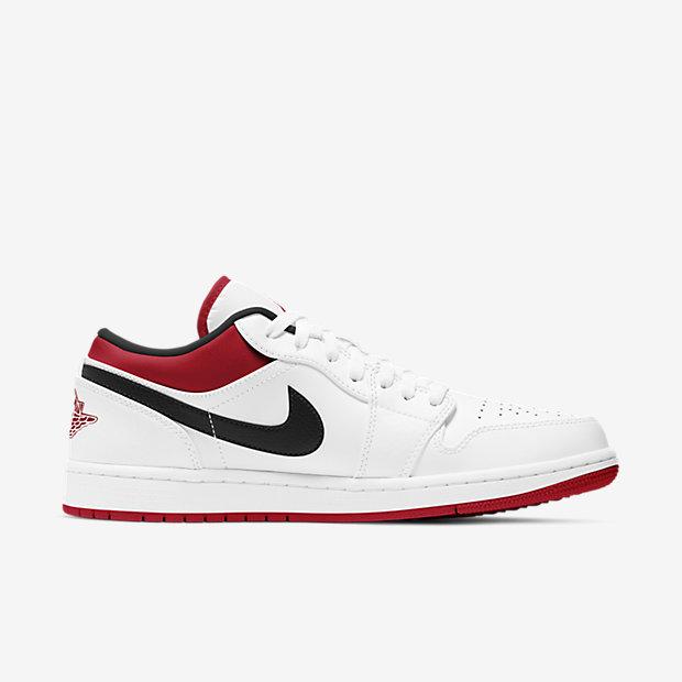 Air Jordan 1 Low White/Gym Red [2]
