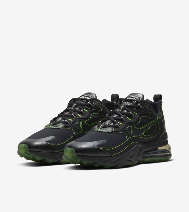 Air Max 270 React  Black/Electric Green [4]