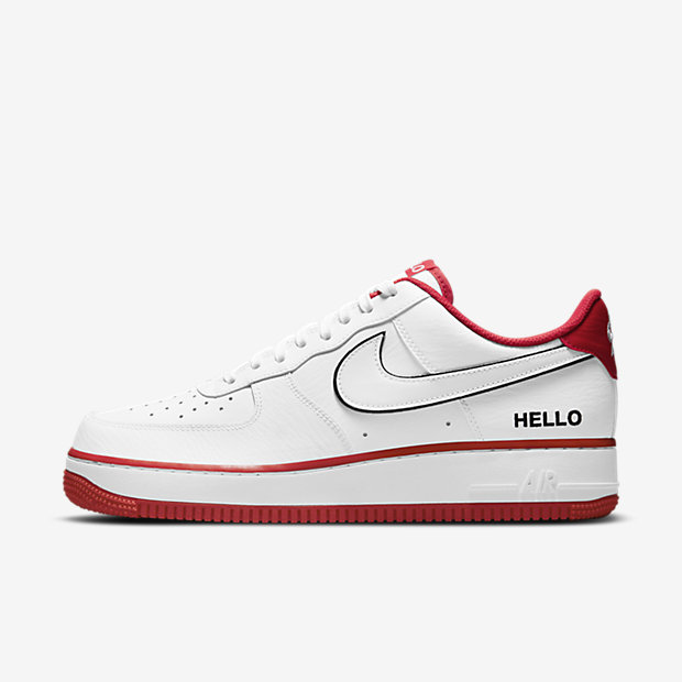 "Air Force 1 Low ""HELLO"" White/University Red [1]"