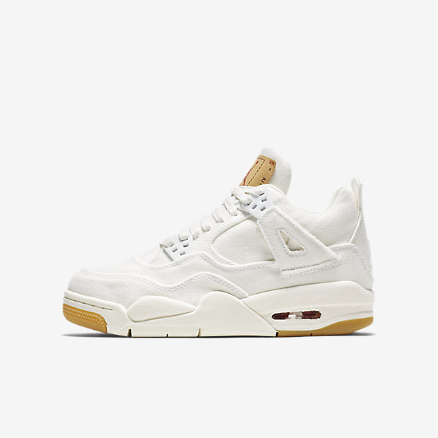 Air Jordan 4 Retro Levi's White (GSサイズ) (Levi's Tag)