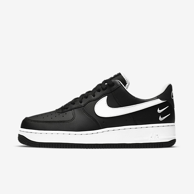 Air Force 1 Low Double Swoosh Black/White