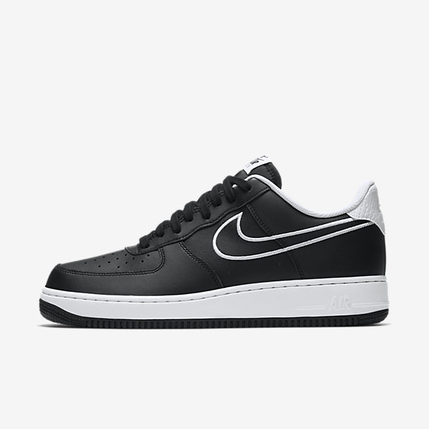Air Force 1 Low Leather Black White (2018)