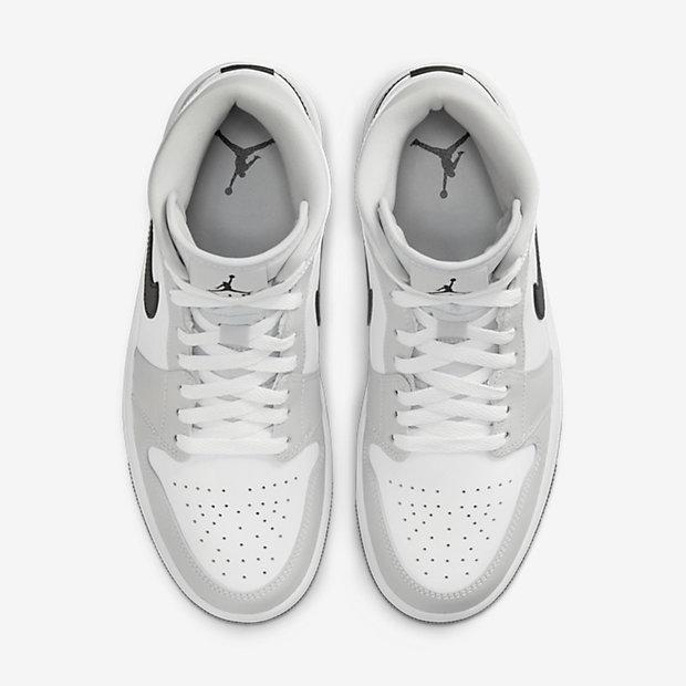 Air Jordan 1 Mid Light Smoke Grey [3]