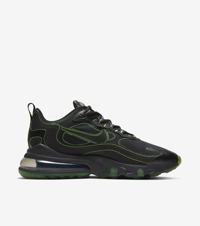 Air Max 270 React  Black/Electric Green [2]