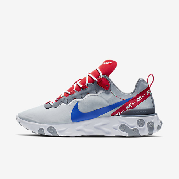 React Element 55 Wolf Grey Game Royal Habanero Red