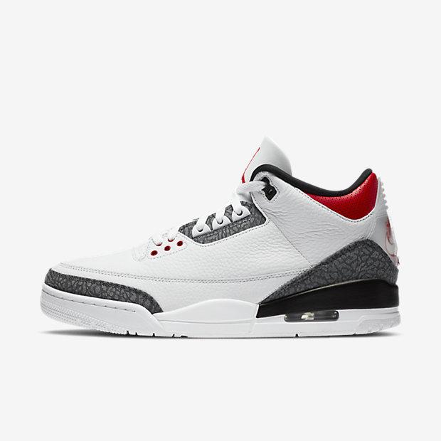 Air Jordan 3 Retro Fire Red Denim Japan [1]