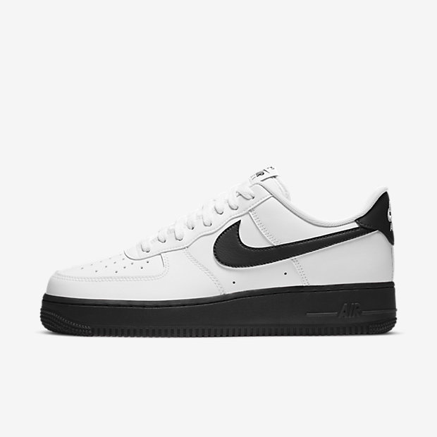 Air Force 1 Low White Black Midsole