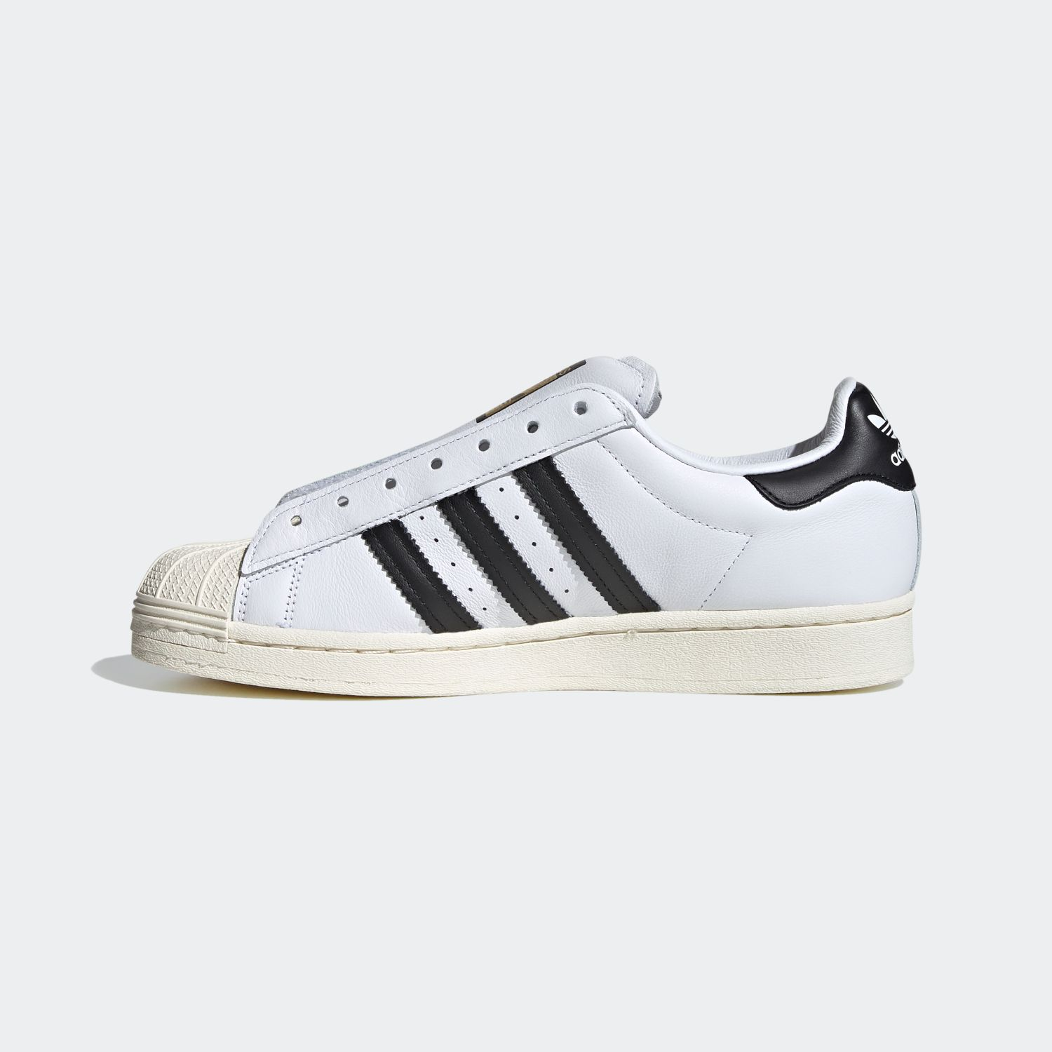 SUPERSTAR x Adidas Laceless White Black [2]