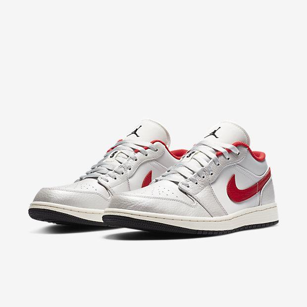 Air Jordan 1 Low White And Red [4]