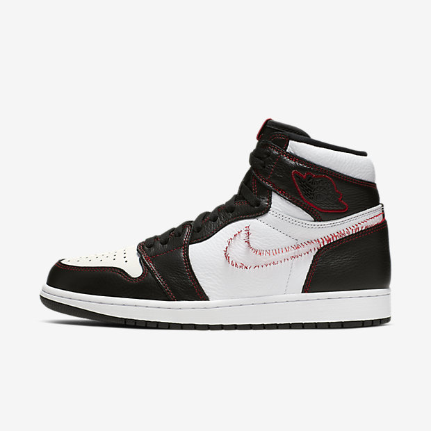 Air Jordan 1 Retro High Defiant White Black Gym Red [1]