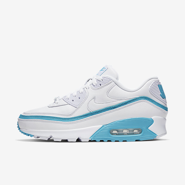Air Max 90 Undefeated White Blue Fury [1]