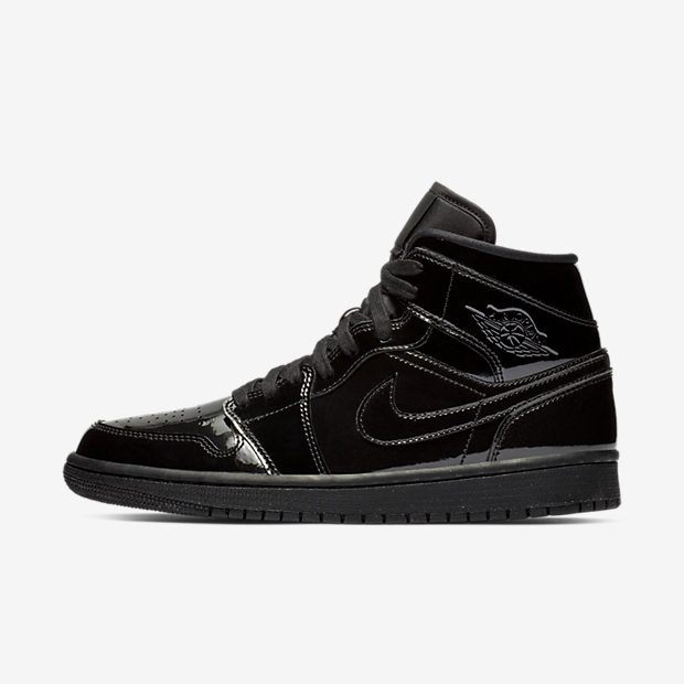 Air Jordan 1 Mid SE Triple Black Patent (ウィメンズ)