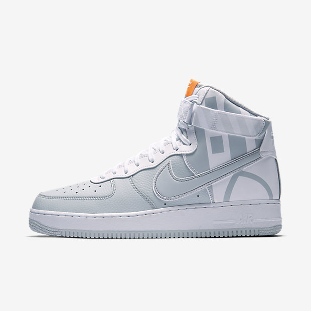 Air Force 1 High Force Logo Pure Platinum
