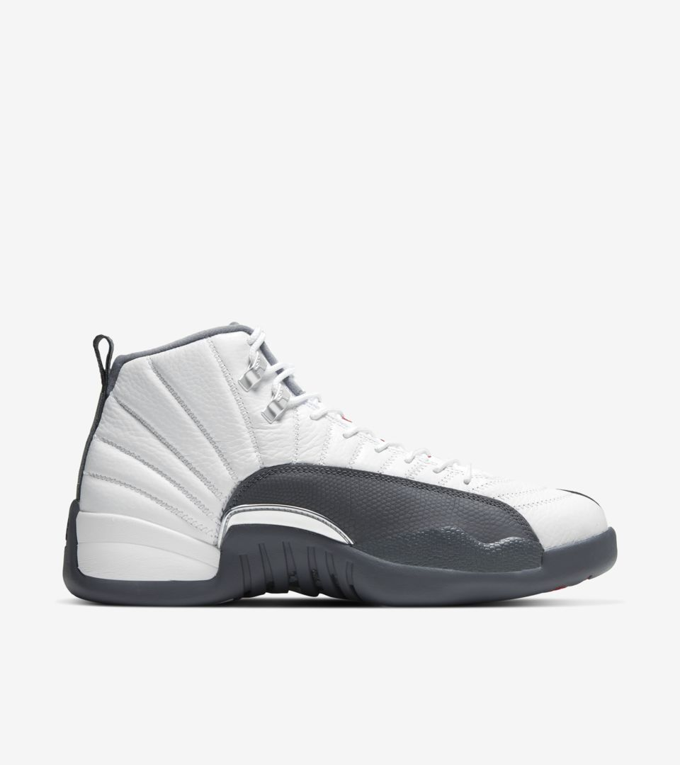 Air Jordan 12 White/Dark Grey [2]