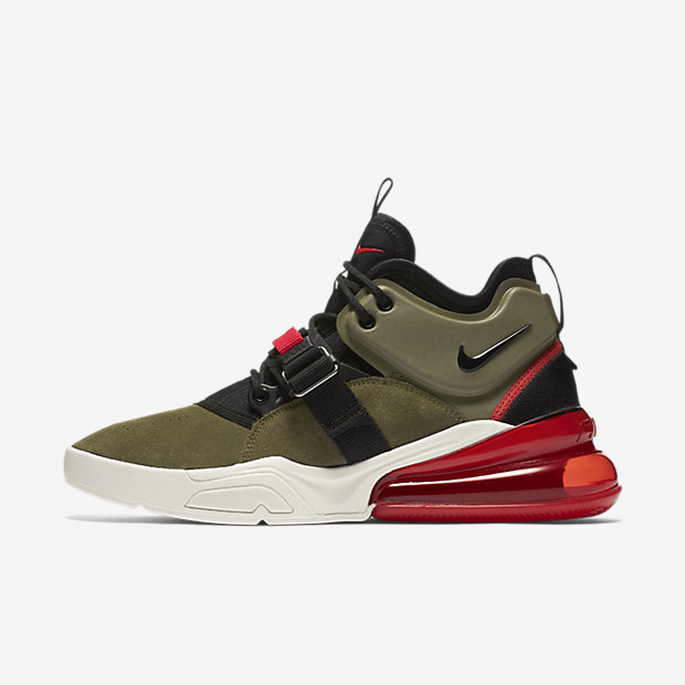 Air Force 270 Medium Olive/Challenge Red