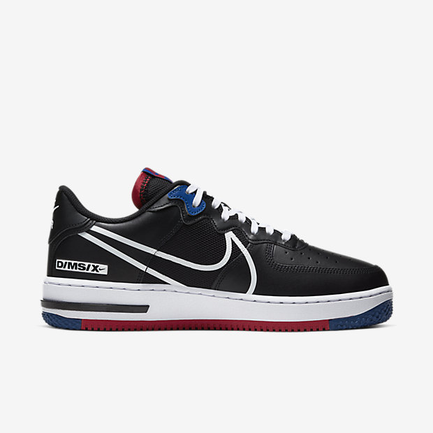 Air Force 1 Low React Black White Gym Red Gym Blue [2]