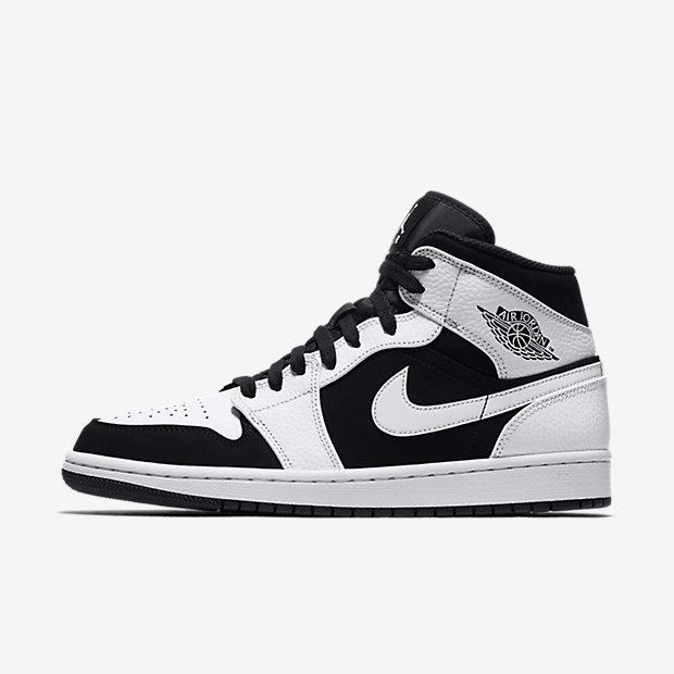 Air Jordan 1 Mid White Black