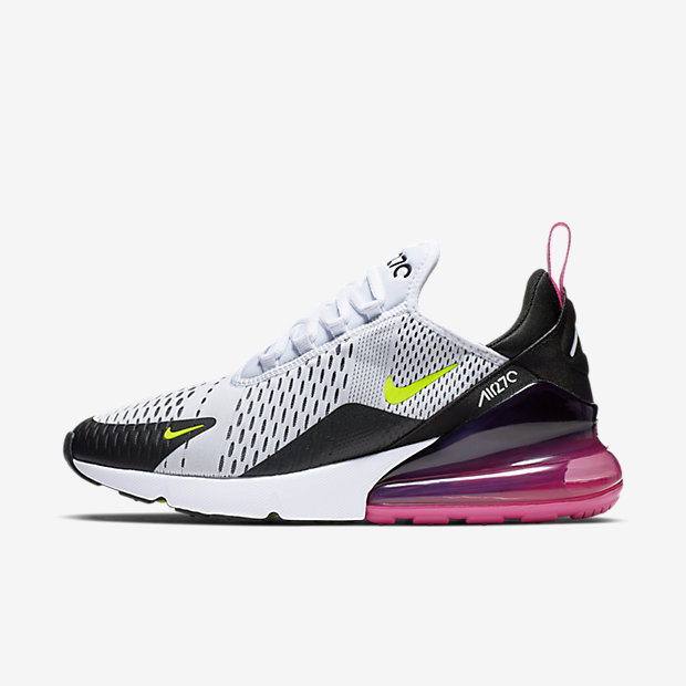Air Max 270 White Black Fuchsia Volt