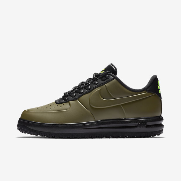Lunar Force 1 Duckboot Low Olive Canvas
