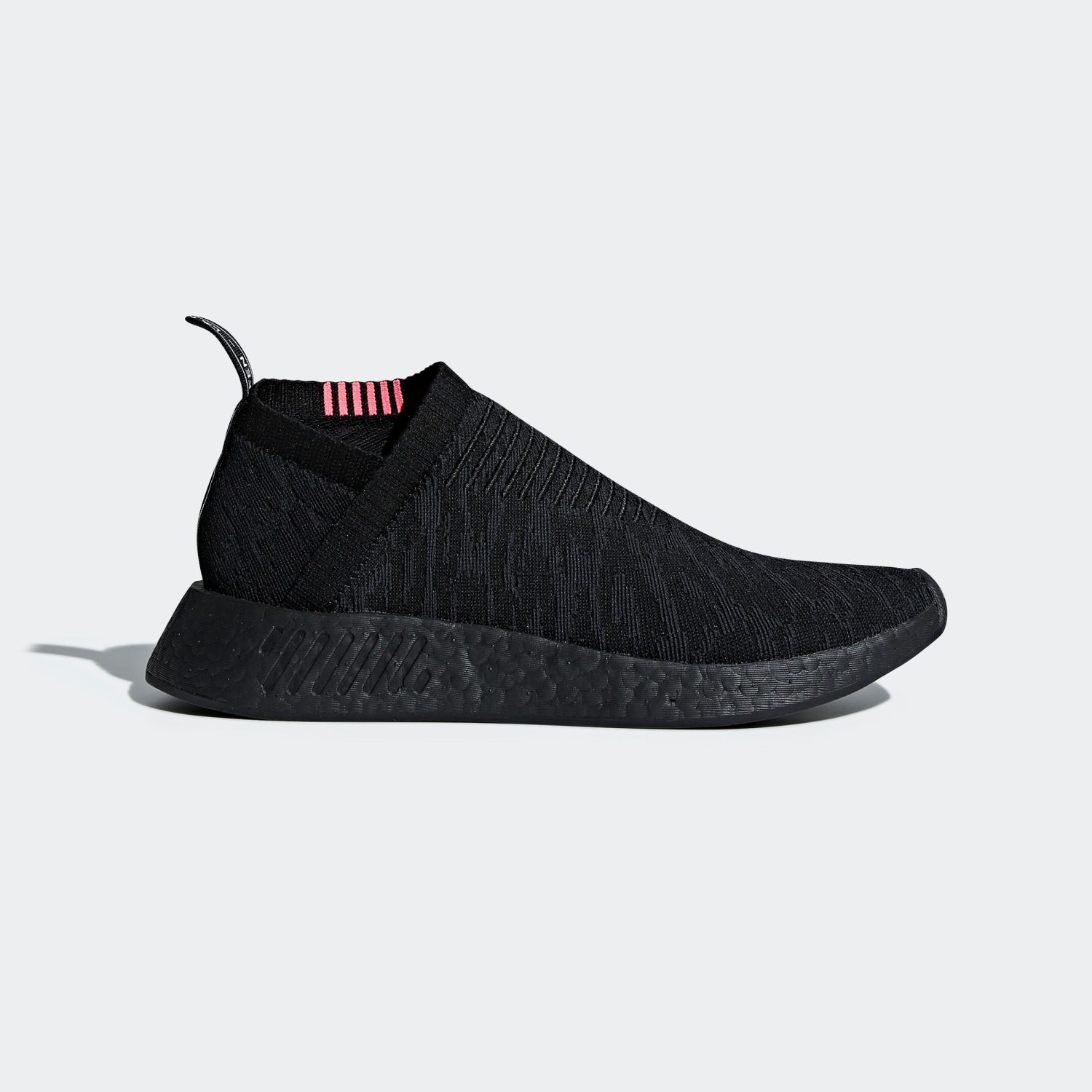NMD CS2 Triple Black Shock Pink