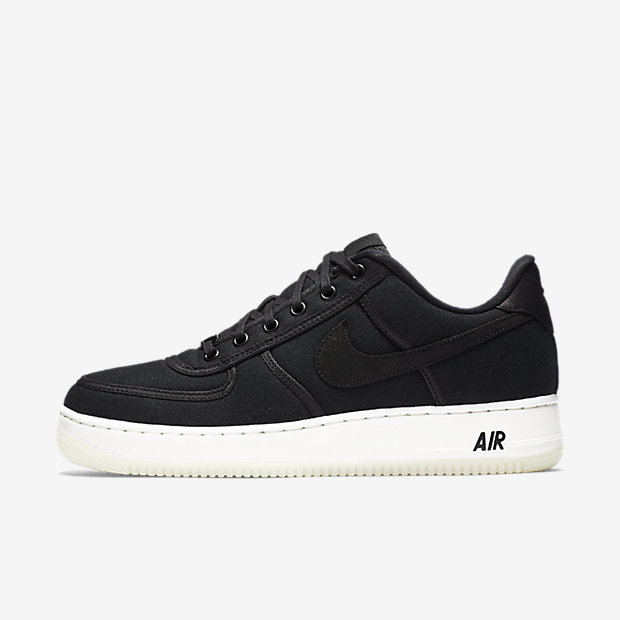 Air Force 1 Low Canvas Black