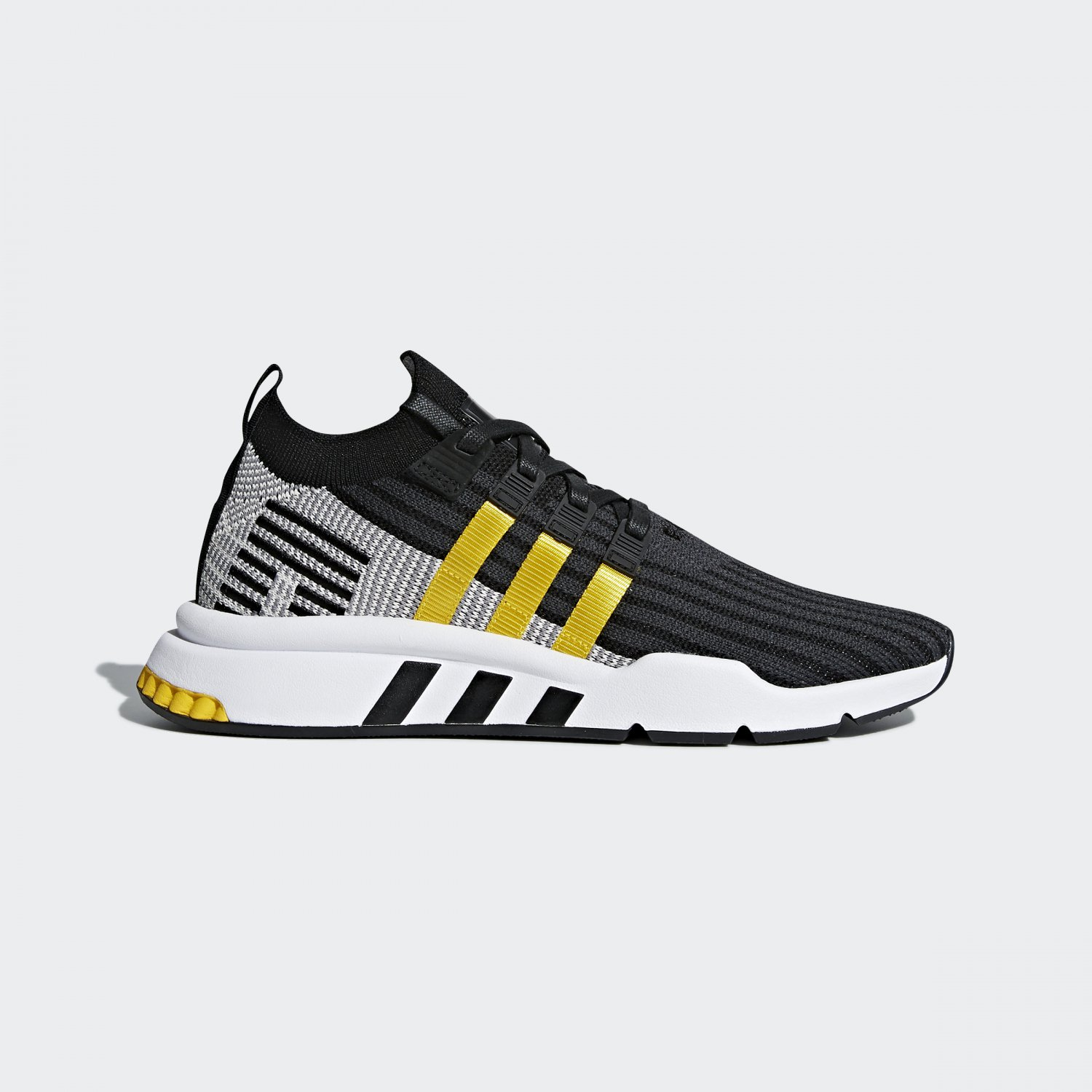 EQT Support Mid Adv Black Equipment Yellow
