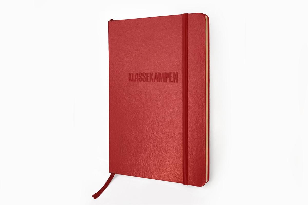 Klassekampens notatbok i rød