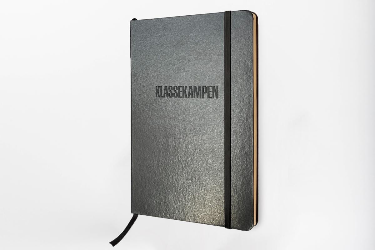Klassekampens notatbok i sort