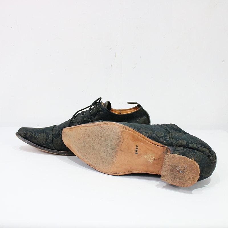 Paul Harnden / ポールハーデン PNG Balmoral Boot - Brown/Silk シルクジャガード レースアップシューズ