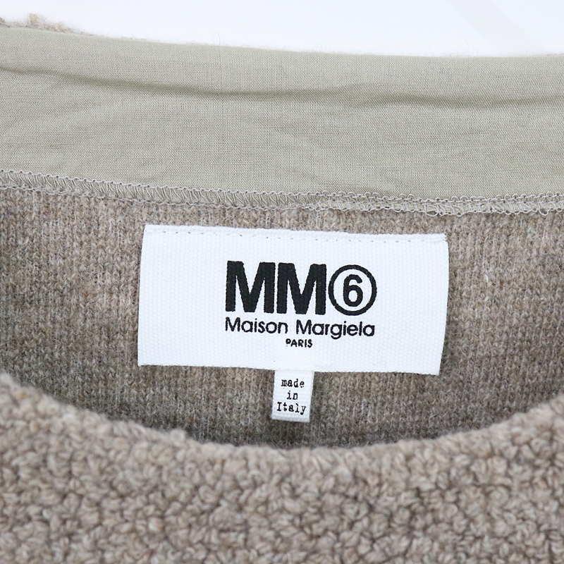 MM6 Maison Margiela / エムエムシックス メゾンマルジェラ ボア ニット ロング スウェット ワンピース