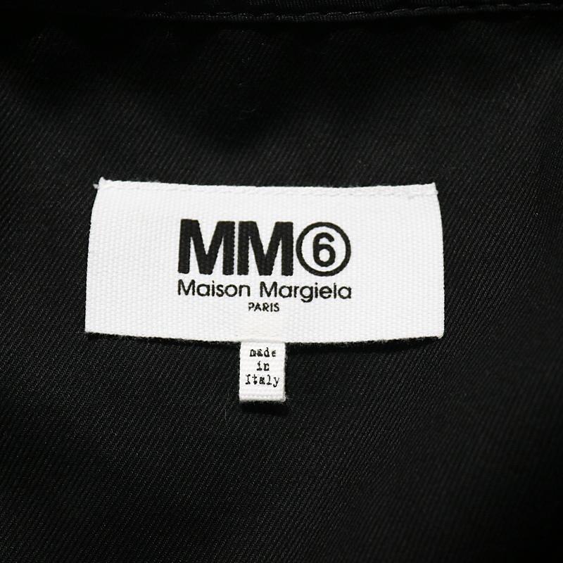 MM6 Maison Margiela / エムエムシックス メゾンマルジェラ Belted gabardine dress コットン ビッグシルエット バックリボンデザイン ワンピース