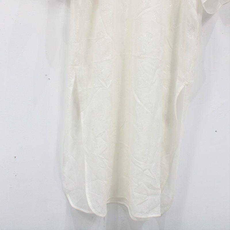 Mame Kurogouchi / マメクロゴウチ Film Jacquard Shine I-Line Dress シルクフラワージャガードドレスワンピース