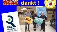 Kloen dankt Ring Shopping Kuurne cheque 1528 euro
