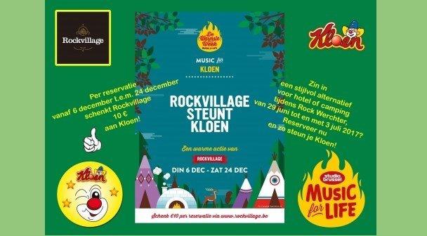 Rockvillage steunt Kloen tijdens De Warmste Week!