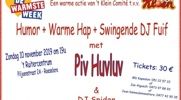 WW-actie met Piv Huvluv