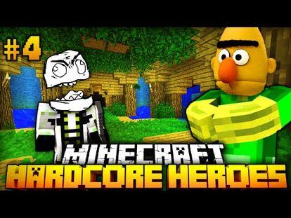 Eine WILDE BEGEGNUNG Minecraft Hardcore Heroes - Minecraft timerain spielen