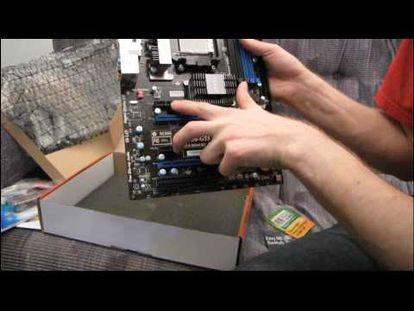 aa5ab5dbd94 MSI NF750-G55 AM3 DDR3 SLI Motherboard Unboxing & First Look Linus Tech  Tips-