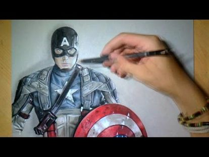 Speed Drawing of Captain America 3D How to Draw Time Lapse - 00:00-4:21 -  Tue May 15 2018 10:59:41 AM