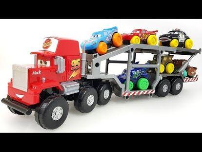 Disney Cars Tomica Truck Hauler Pokemon Balls Surprise Toys Learn Colors Mack